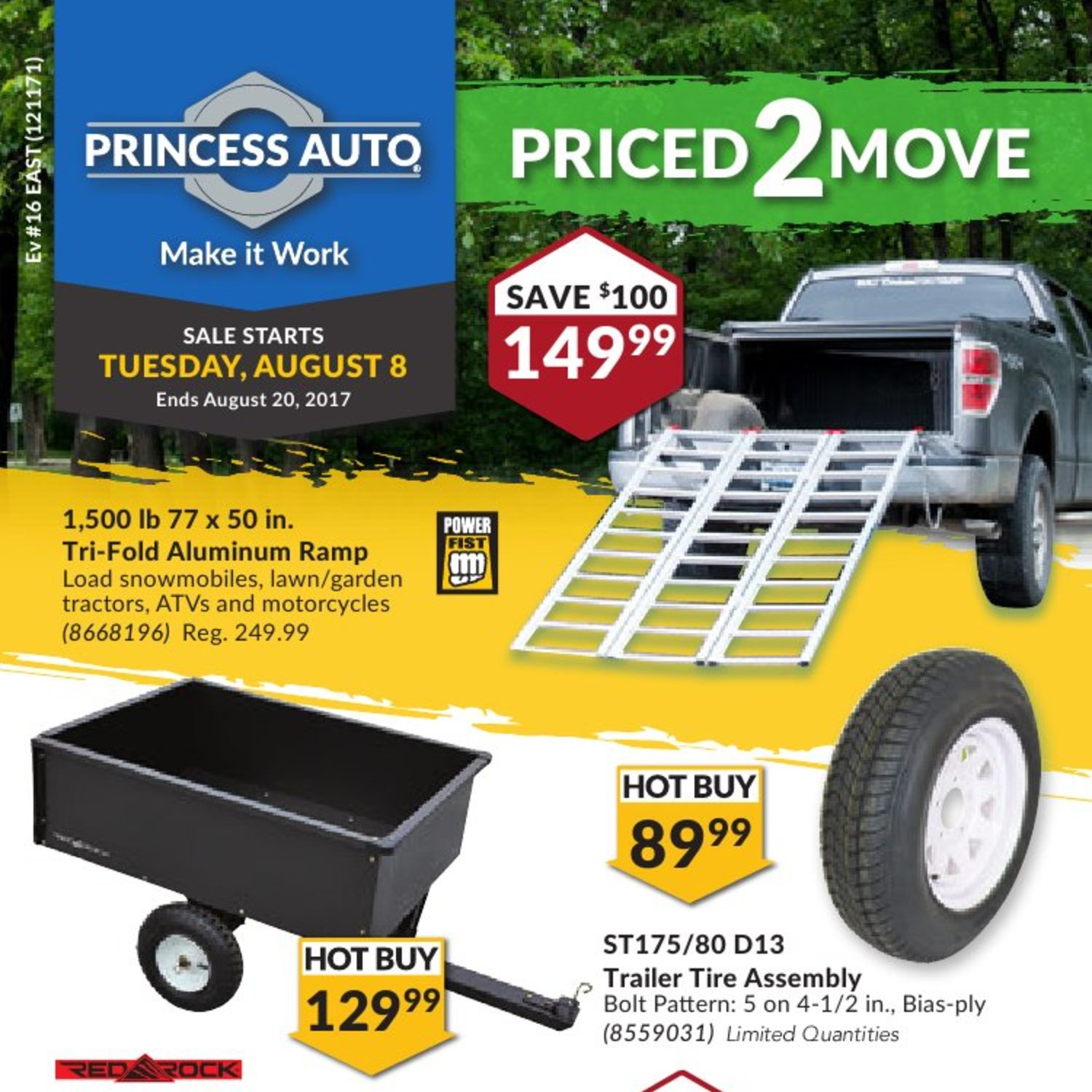 Princess Auto Weekly Flyer Priced 2 Move Aug 8 – 20