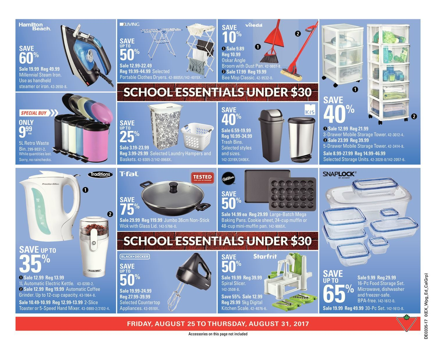 Canadian Tire Weekly Flyer - Weekly - Back to School - Aug 25 – 31 ...