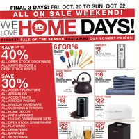 Home Outfitters - Weekly - We Love Home Days! Flyer