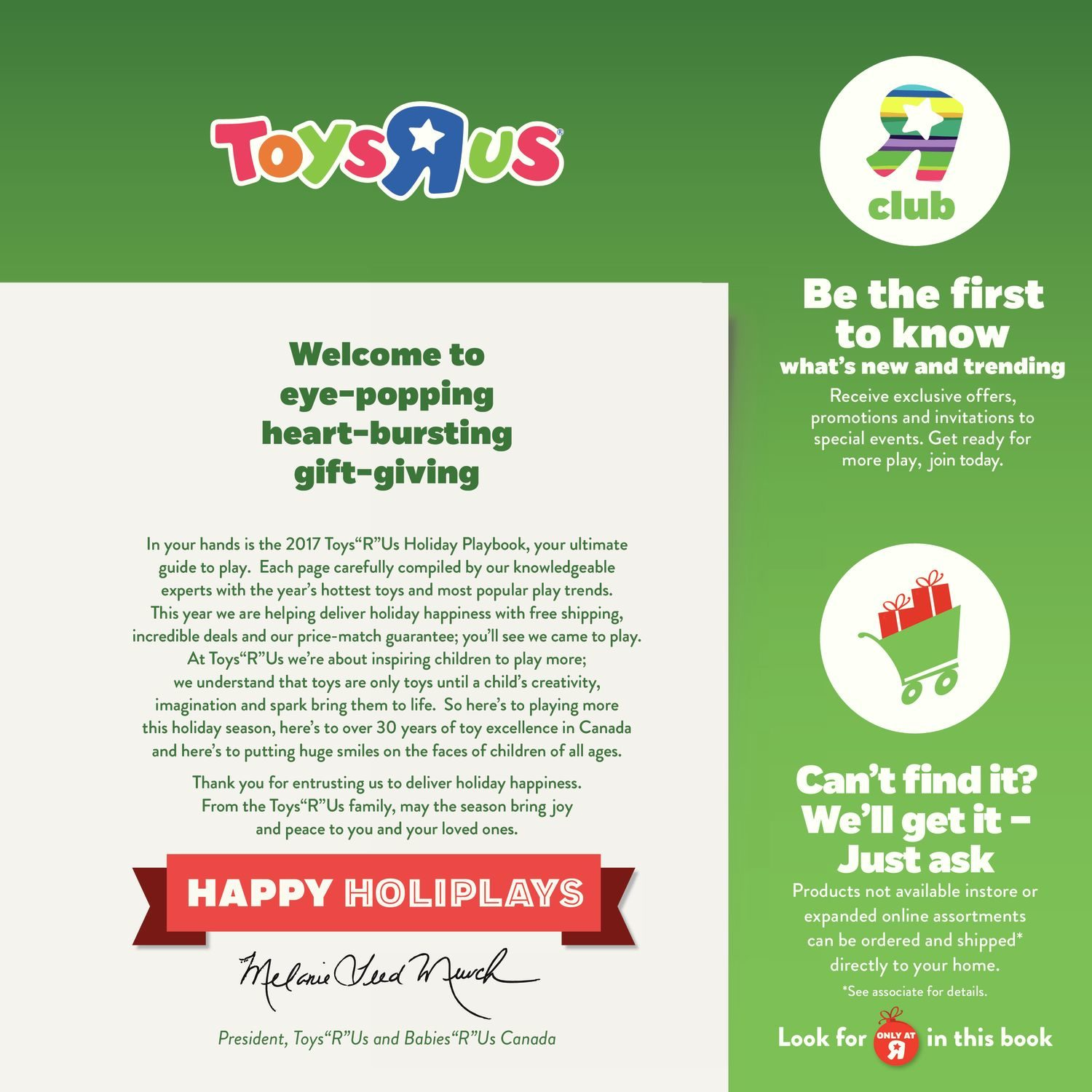 Toys R Us Weekly Flyer - 2017 Playbook - Nov 3 – 16 - RedFlagDeals.com