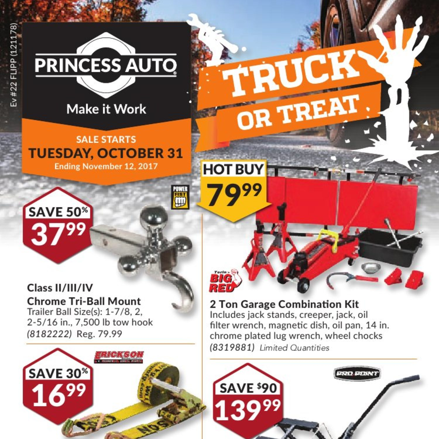 Princess Auto Weekly Flyer Truck or Treat Oct 31 – Nov 12