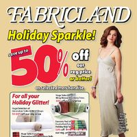 Fabricland - Holiday Sparkle! Flyer