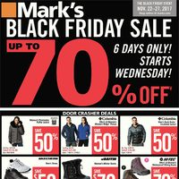 Mark's - 6 Days Only! - Black Friday Sale Flyer