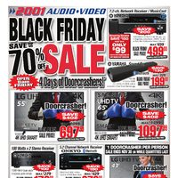 2001 Audio Video - Weekly - Black Friday Sale Flyer