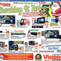 Visions Electronics - Weekly - Checking It Twice Flyer