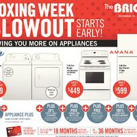 The Brick - Appliance Plus - Boxing Week Blowout Starts Early! Flyer