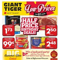 Giant Tiger - Weekly - Half Price Birthday Deals! Flyer