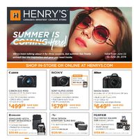 Henry's - Summer is Coming Here! Flyer