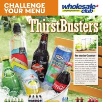 Wholesale Club - Challenge Your Menu - Thirst Busters Flyer