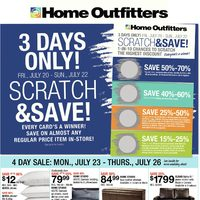 Home Outfitters - Weekly - Scratch & Save! Flyer