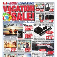 2001 Audio Video - Weekly - Vacation Sale! Flyer