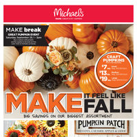 Michaels - Weekly - Make It Feel Like Fall Flyer
