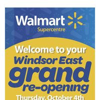 - Windsor East Supercentre - Exclusive Grand Re-Opening Specials Flyer