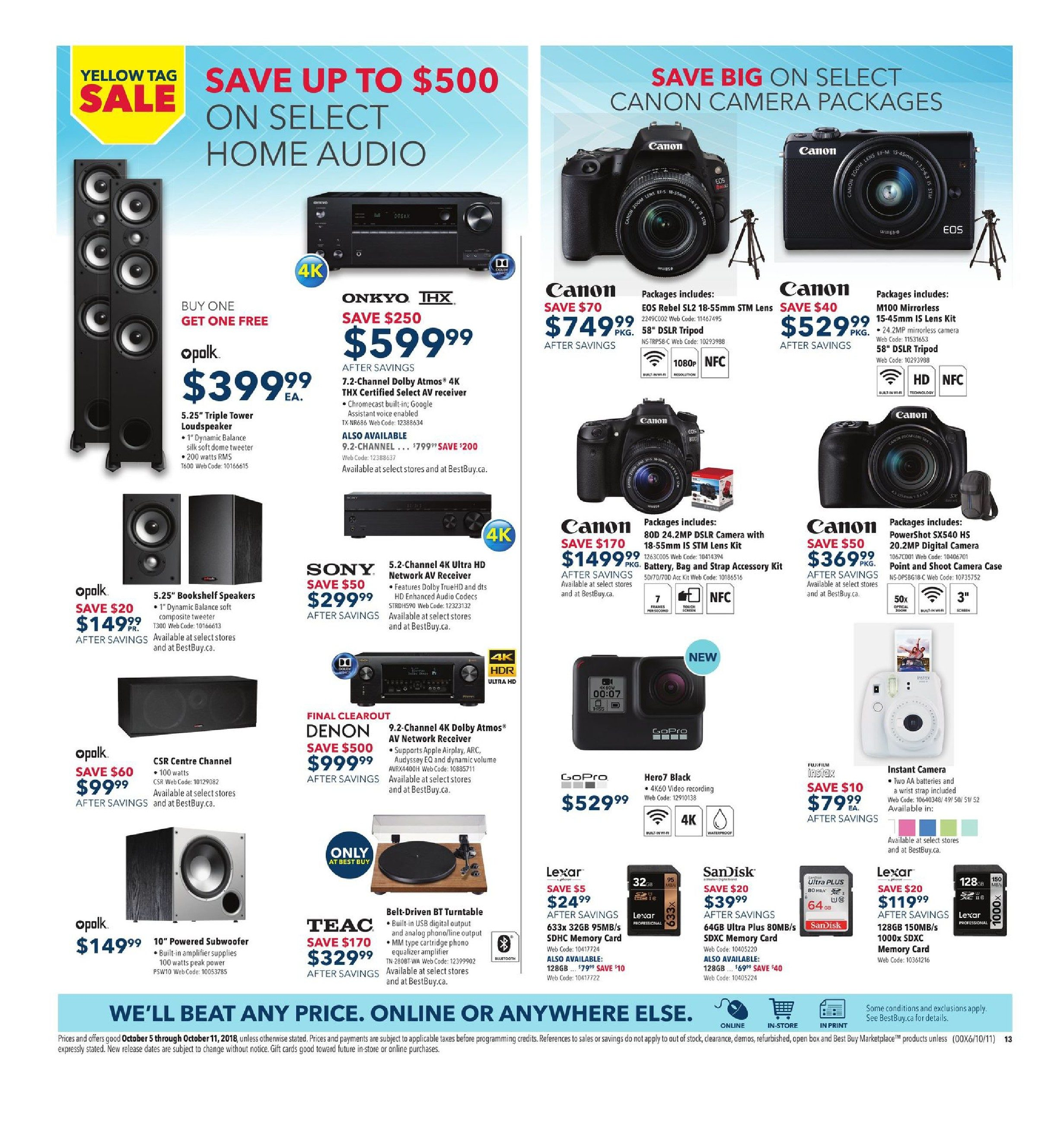 Best Buy Weekly Flyer Yellow Tag Sale Oct 5 11 Nikon 1 J5 Nikkor Kamera