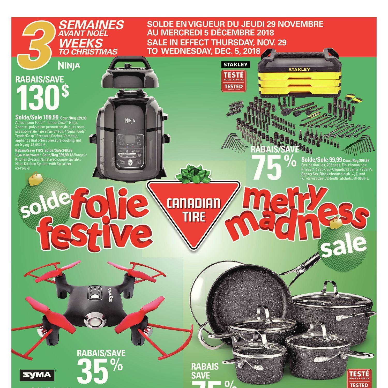 0bca79cf47 Canadian Tire Weekly Flyer - 3 Weeks To Christmas - Merry Madness Sale -  Nov 29 – Dec 5 - RedFlagDeals.com