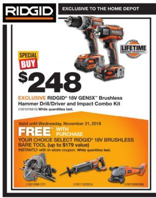 home depot ridgid coupon