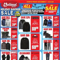 National Sports - Holiday Savings Sale Flyer