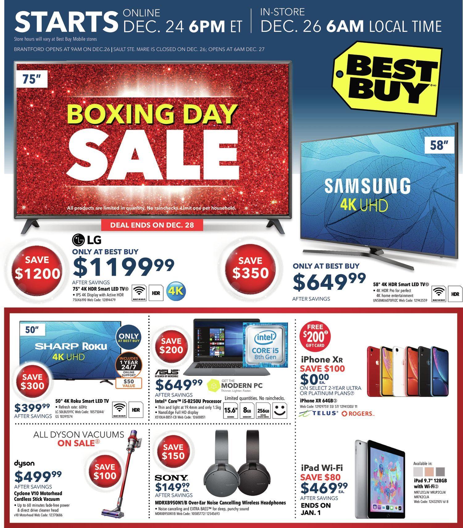 455df48d7bb Best Buy Weekly Flyer - Boxing Day Sale - Dec 25 – Jan 3 - RedFlagDeals.com