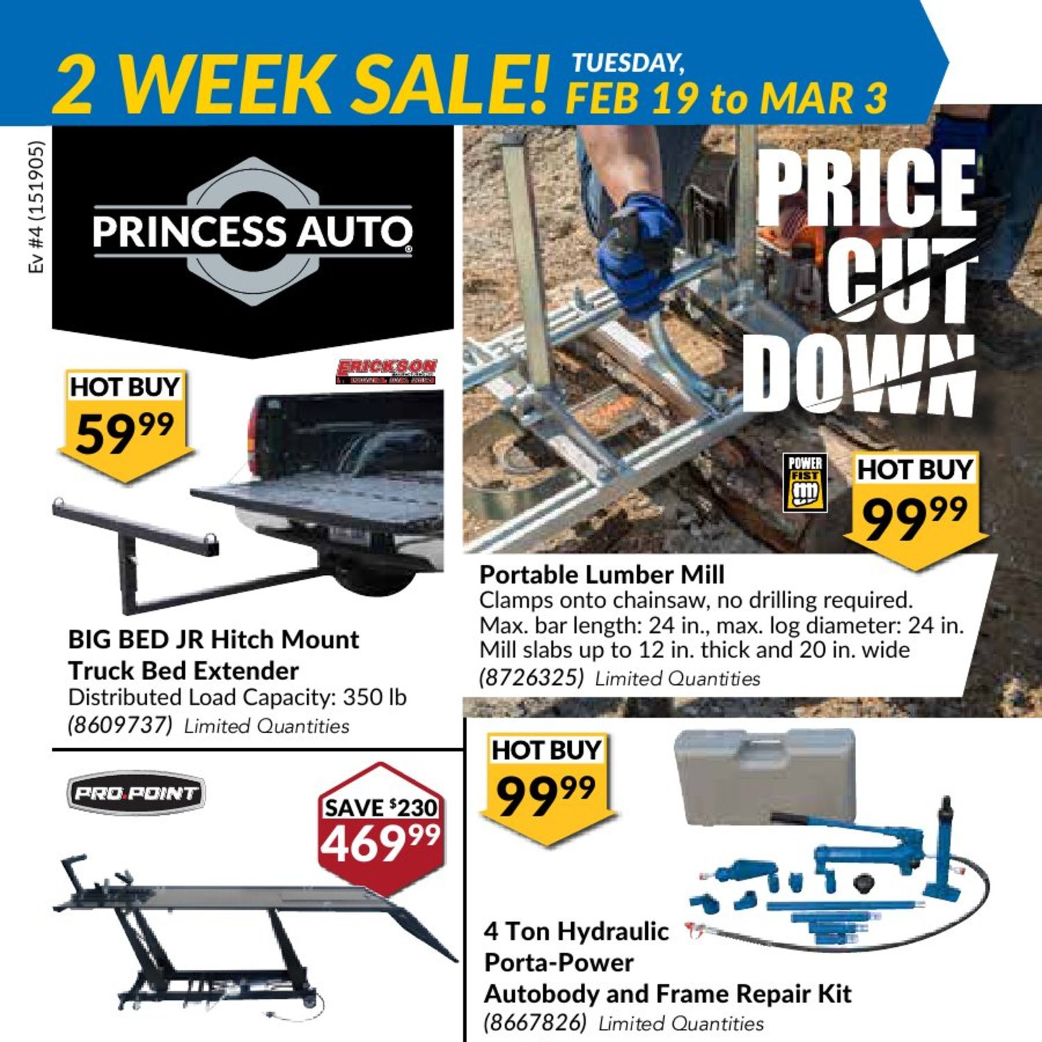 cb44e8990d10 Princess Auto Weekly Flyer - 2 Week Sale! - Price Cut Down - Feb 19 – Mar 3  - RedFlagDeals.com