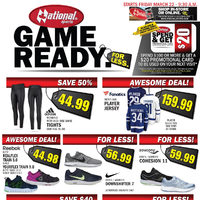 National Sports - 2 Weeks of Savings - Game Ready Flyer