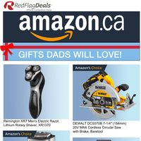 Amazon Canada - Gift Dads Will Love! Flyer