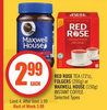 Red Rose Tea, Folgers Or Maxwell House, Instant Coffee