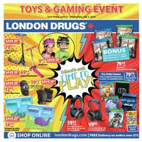 London Drugs - Toys & Gaming Event Flyer