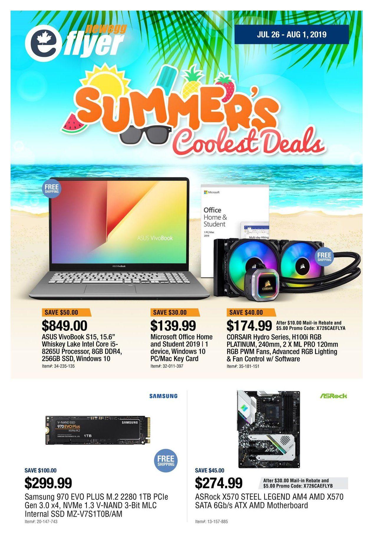 Newegg Weekly Flyer - Summer's Coolest Deals - Jul 26 – Aug 1
