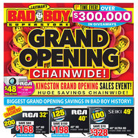 - Grand Opening Chainwide Sales Event Flyer