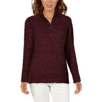 Natural Reflections Chenille Full-Zip Or Quarter-Zip Sweater