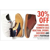 Timberland, Kenneth Cole Reaction, Sperry, Skechers And Levi's Footwear