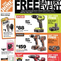 Home Depot - Weekly - Free Battery Event Flyer