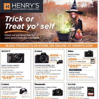 Henry's - 2 Weeks of Savings - Trick Or Treat Yo' Self Flyer