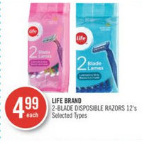 Life Brand 2-Blade Disposible Razors