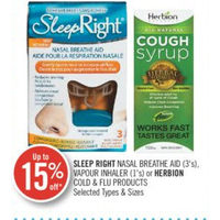 Sleep Right Nasal Breathe Aid, Vapour Inhaler Or Herbion Cold & Flu Products