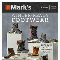 Mark's - 6 Days of Savings - Winter-Ready Footwear Flyer