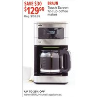 Braun Touch Screen 12-Cup Coffee Maker