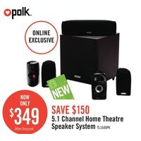 Polk 5.1 Chennel Home Theatre Speaker System