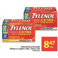 Tylenol Extra Strength Tablets Or Caplets