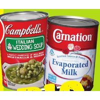 Carnation Evaporated Milk, Campbell's Ready To Serve Soup