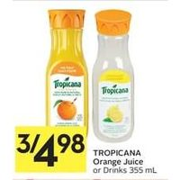 Tropicana Orange Juice Or Drinks
