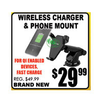 Wireless Charger & Phone Mount