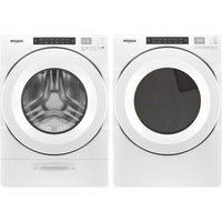 Whirlpool 5.2 Cu. Ft. HE Front Load Steam Washer & 7.4 Cu. Ft. Electric Dryer