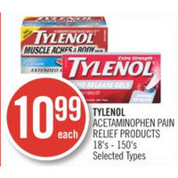 Tylenol Acetaminophen Pain Relief Products