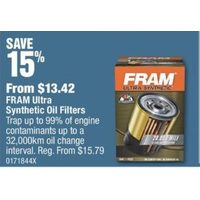 Fram Ultra Synthetic Oil Filters