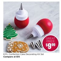 8 Pc. Confection Cake Decorating Kit Set
