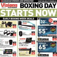 Visions Electronics - Weekly - Boxing Day Starts Now Flyer