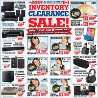 2001 Audio Video - Weekly - Inventory Clearance Sale! Flyer