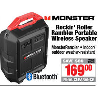 Monster Rockin' Roller Rambler Portable Wireless Speaker