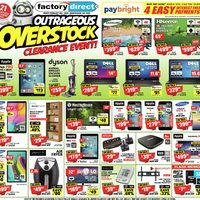 Factory Direct - Outrageous Overstock Clearance Event! Flyer